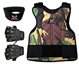 MAddog MD-2250-TRIOCAMO-SMD Sports Tactical Half Glove & Neck Protector Padded Chest Protector, Camo