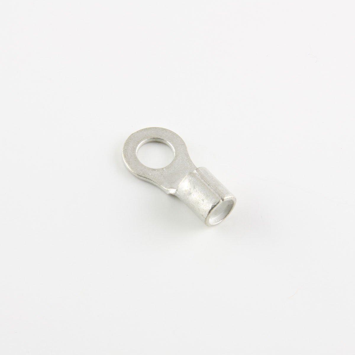8 Ga. Ring Terminals, 1/4'' Stud - (pack of 25)