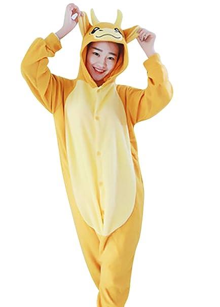 MissFox Pijamas Disfraces Cosplay de Animales para Adultos Unisex Kigurumi Disfraz Pijama Entero Adulto Hombre Mujer