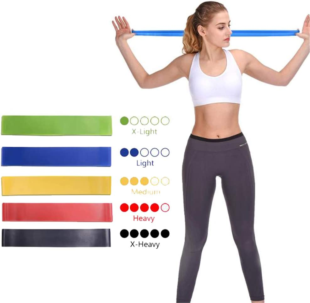 3C Evol Set of 5 Resistance Loop Bands for Exercise Sports Fitness Home Gym Yoga