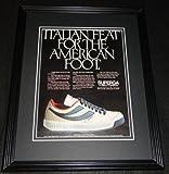 1981 Superga Pirelli Shoes 11x14 Framed ORIGINAL Vintage Advertisement