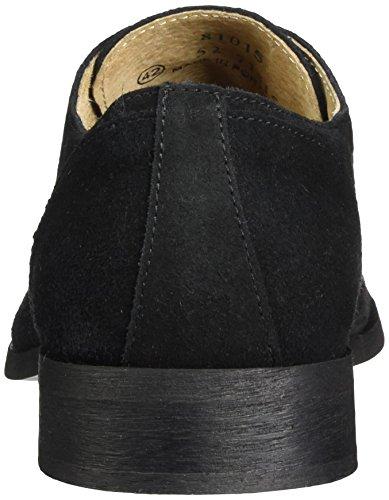 Bianco Eleganter Oxford Schnürschuh - Zapatos Hombre Schwarz (Black)