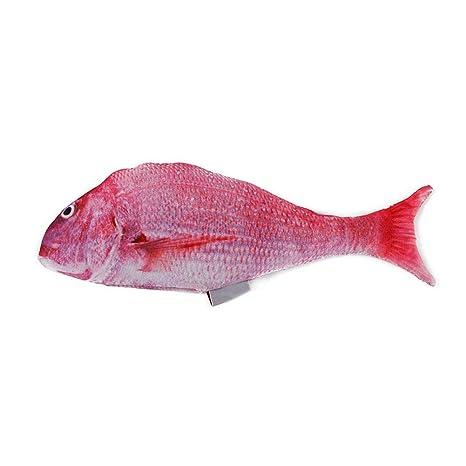 Ruiting Gatito del Gato del Catnip Fish Juguete Rosado de la Felpa de simulación Catnip Fish