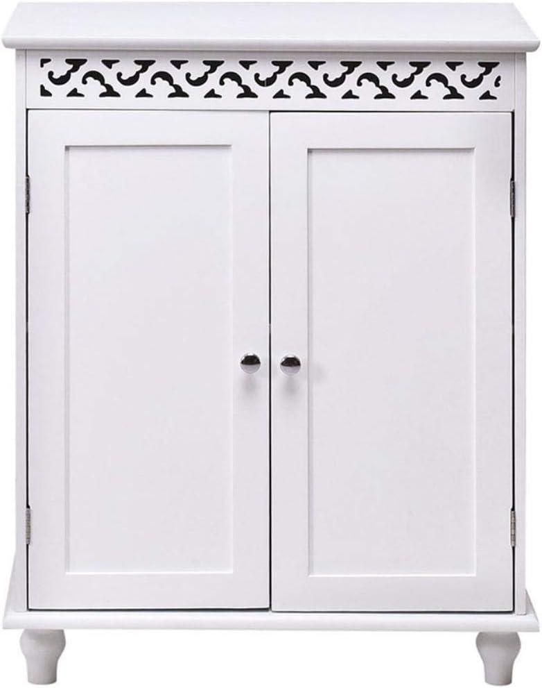 LGYLucky Blanca Armario 2 Puertas móvil Impermeable Base de MDF Muebles de baño: Amazon.es: Hogar