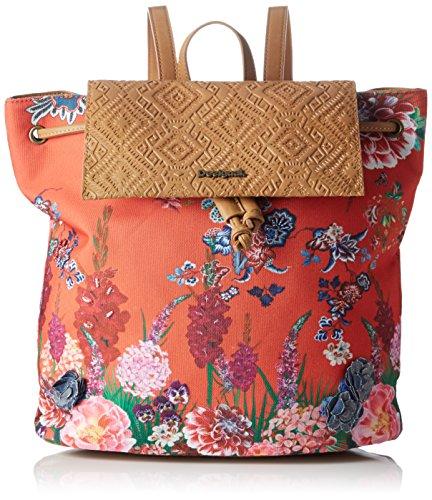 Desigual BOLS_SINTRA Ikebana, Shopper Donna, Rosso (3074), 14 x 32 x 31 cm (B x H x T)