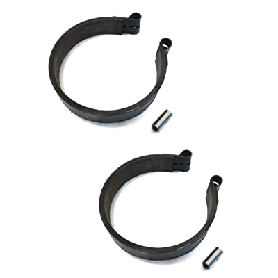 "(2) 4 Inch BRAKE BAND with PIN for Go Kart Cart Go-Cart Minibike Mini Bike ATV 4"": Automotive"