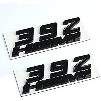 2pcs OEM Red 392 Emblem 392 Badge 3D Replacment for 392 Emblems E black New