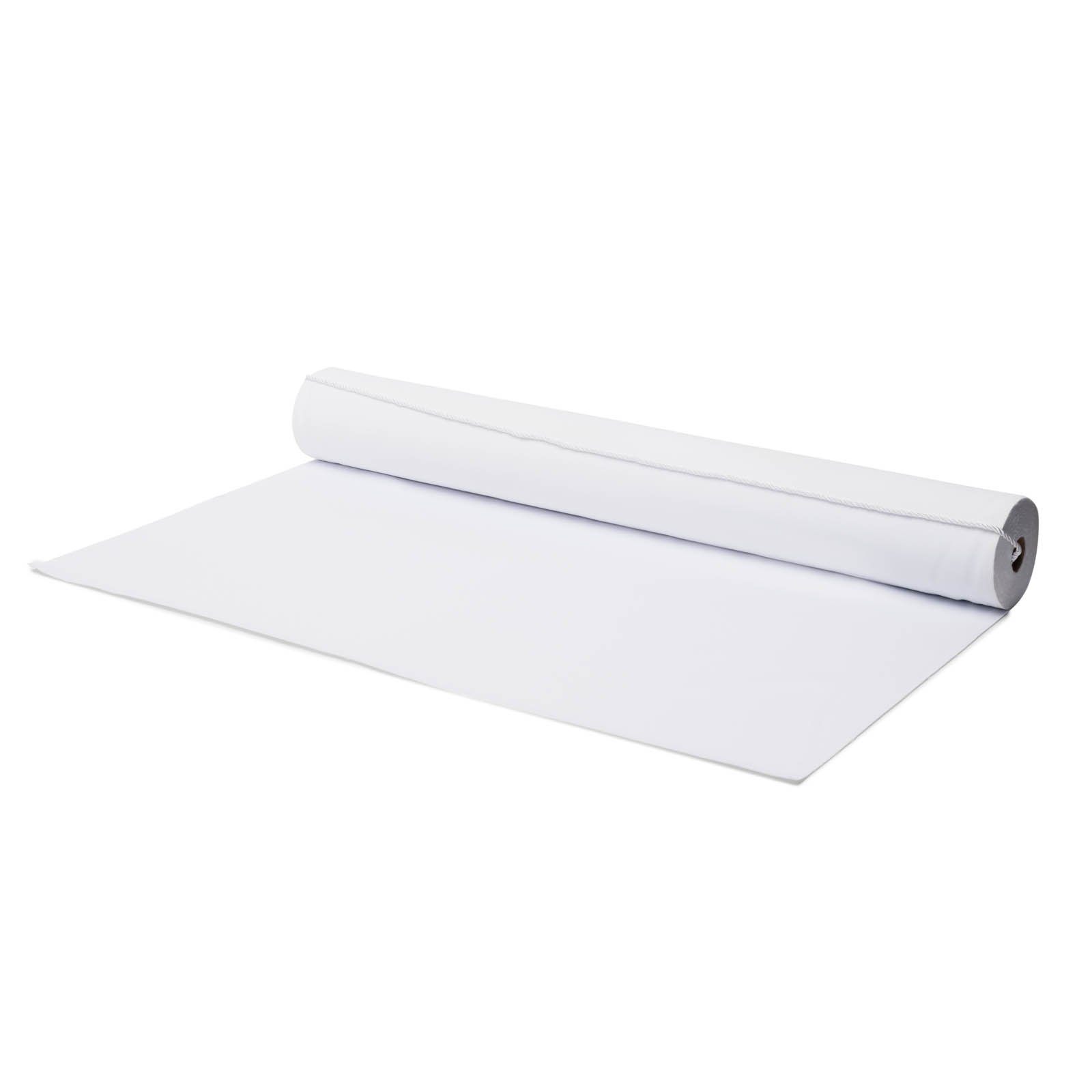 Non Slip Wedding Aisle Runner, Polyester Fabric Floor Runners for Weddings, Stay Put Foam Backing for an Indoor or Outdoor Ceremony, with Rope & Instructions, 50 Ft x 40'', White by Orchid & Palm