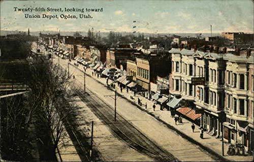 Twenty-fifth Street, Looking Toward Union Depot Ogden, Utah Original Vintage Postcard ()