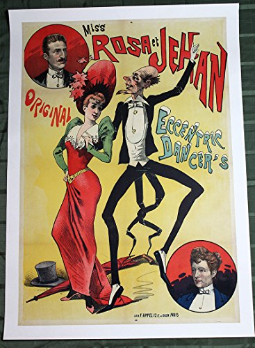 "Miss Rosa et Jehan by Alfred Choubrac (France, 1890) 32.75"" x 47.2"" Advertising Poster"