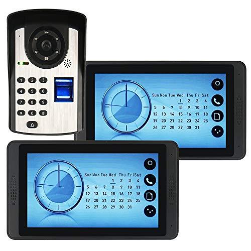 YLXD Video Doorbell,Fingerprint Password Remote Control Unlock Electronic Visual Smart doorbell,7