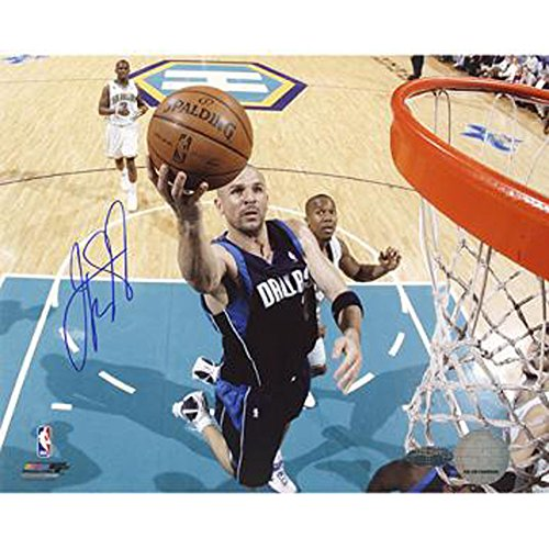 Jason Kidd Signed First Game Back With Mavericks Layup 8x10 Photo Steiner Coa