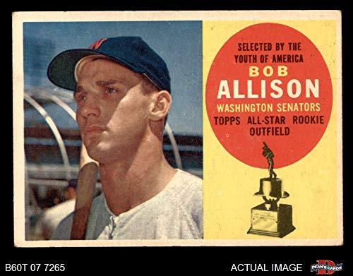 1960 Topps # 320 Bob Allison Washington Senators (Baseball Card) Dean's Cards 4 - VG/EX Senators ()
