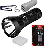 Klarus G35 2000 Lumens CREE XHP35 HI D4 LED 1000 Meters Tactical Flashlight With car charger and Battery Case