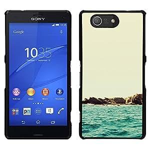 Sony Xperia Z4v / Sony Xperia Z4 / E6508 - Metal de aluminio y de plástico duro Caja del teléfono - Negro - Beautiful Minimalist Beach Scenery