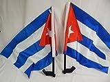 LOT-10 Cuba Bandera Car Window Flag World Cup Championship FIFA Soccer