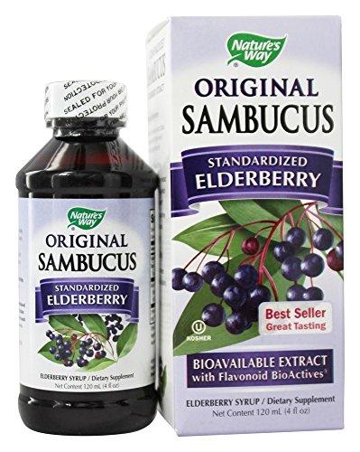 Black Elderberry Original Formula (Nature's Way - Original Sambucus Syrup 4 ounce)
