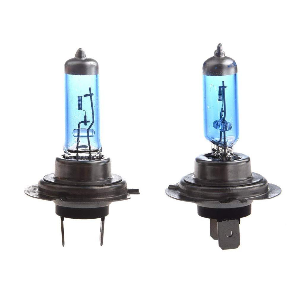 Deanyi Xenon Headlight Bulbs Super White Head Light Bulb H7 2 pronged 12 volt 55 Watts BLUE