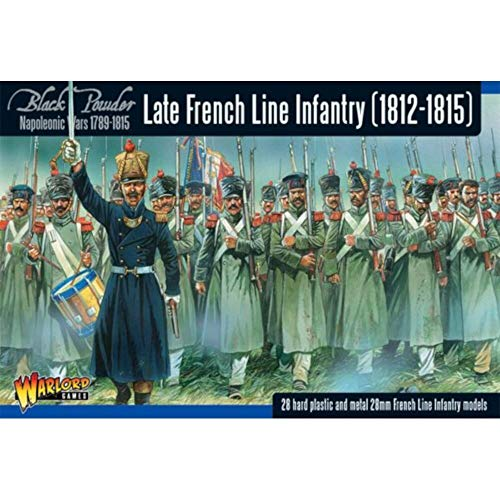 Black Powder - Late French Line Infantry (1812-1815) (28mm Scale) (28) (warlord