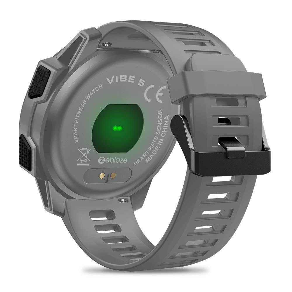 Zeblaze Vibe 5 HR Reloj Inteligente Deportivo, Smartwatch Hombre Impermeable Bluetooth 4.0 Reloj Inteligente con Monitor de Ritmo Cardíaco/Sueño, ...