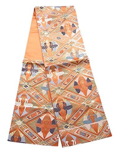 リンケージ慈悲深い寄託袋帯 リサイクル 吉祥緞子 龍王帯 本金箔 正絹 六通