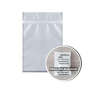 EASTCHEM 2 Gram Pack of 100 Silica Gel Desiccant Packets Drying Agent Moisture Absorber