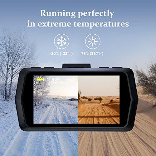 VETOMILE V2 Dash Cam 2 5K HD 1440P 30fps, 1080P 60fps, Car Dashboard