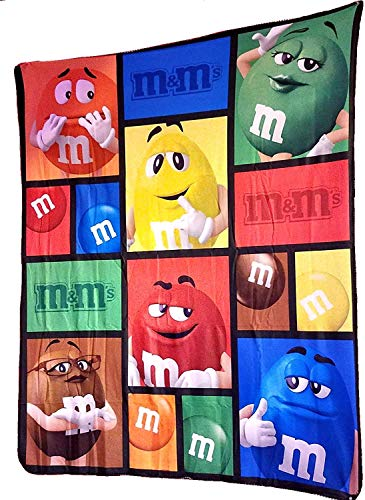 M&M'S BIG FACE CHARACTERS BLANKET. NEW EDITION 2017. 50