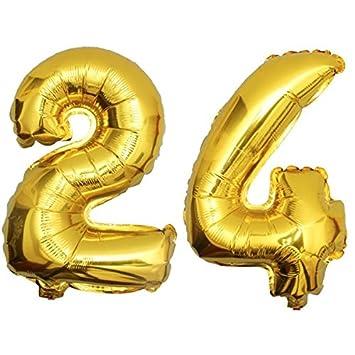 DekoRex® 24 Globo en Oro 80cm de Alto decoración cumpleaños ...