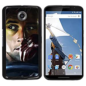 ROKK CASES / Motorola NEXUS 6 / X / Moto X Pro / DRIVE - GOSLING / Delgado Negro Plástico caso cubierta Shell Armor Funda Case Cover