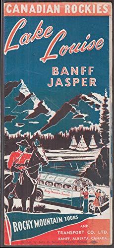 Rocky Mountain Tours Lake Louise Banff Jasper brochure ca 1940