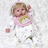 Paradise Galleries Reborn Baby Doll That Looks Real Happy Teddy - 19 inch Girl in GentleTouch Vinyl, Safety Tested for Age Kids 3+, 4-Piece Set