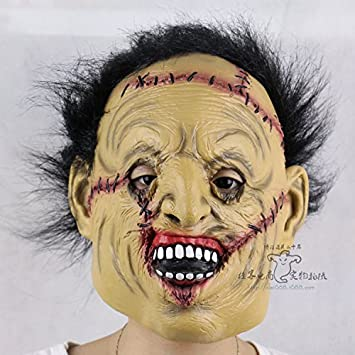 Rotten cara de Frankenstein pelucas espectáculo de danza de Halloween apoyos de terror persona completa máscara de látex fantasma , #1: Amazon.es: Juguetes ...