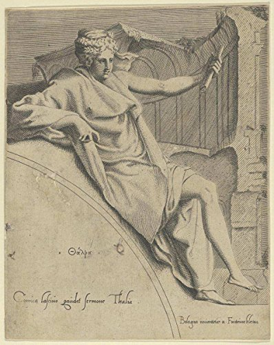 Thalia Italian - Engraved by Anonymous, Italian, 16th century | Thalia | Antique Vintage Fine Art Print Reproduction