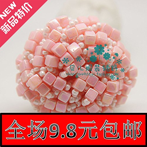 (9.8 high-end handmade pink agate beaded button coat button coat dress fashion buttons 42mm for DIY Art Sewing Sew Tailor Clothing Craft)