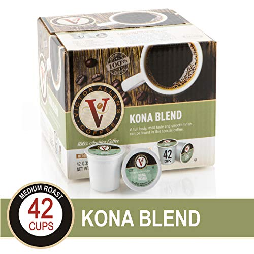 Kona Blend for K-Cup Keurig 2.0 Brewers, 42 Count, Victor Allen's Coffee Medium Roast Single Serve Coffee Pods
