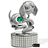 """Matashi Chrome Plated Dog Music Box Plays """"Memory"""" 