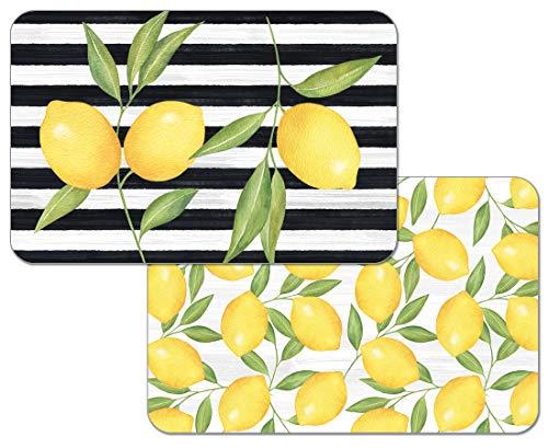Highland Home Counterart Reversible Wipe Clean Decofoam Placemats - Set of 4 - Jardin de Citron