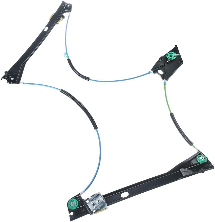 Frankberg Window Regulator Electric Without Motor Front Left for Polo 6R 3-TRG Year of Manufacture 2009-2018