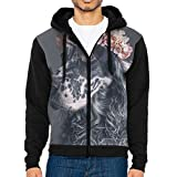 Toys Go English Setter With Flower Man's Hooded Sweater Sweatshirts Zip Up Hipster Hoodies With Pockets 3D Print