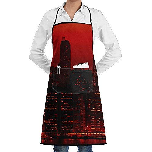 Leisue London Big Ben City Apron Lace Adult Mens Womens Chef Adjustable Polyester Long Full Black Cooking Kitchen Aprons Bib With Pockets For Restaurant Baking Crafting Gardening BBQ Grill (Best Barbecue Restaurants London)