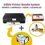 Icinginks Latest Edible Printer Bundle, Includes 50 Edible Sheets, Refillable Edible Cartridges, Edible