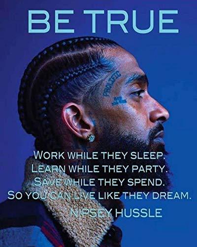 Divine Posters Nipsey Hussle Rapper Entrepreneur Community Activist Record Producer 12 X 18 Inch Multicolour Famous Poster Dpnh46