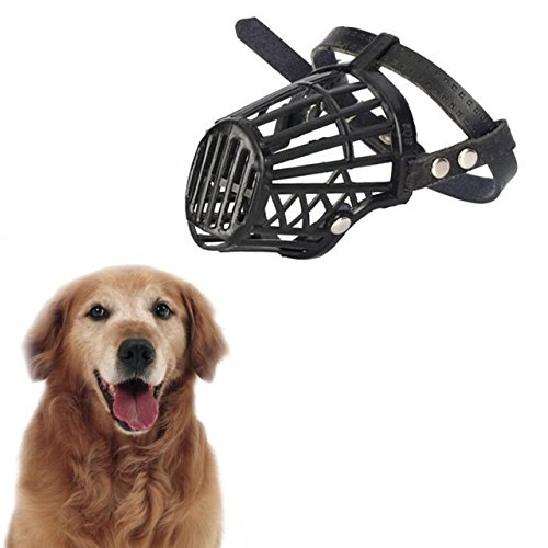 Jasnyfall Strong Dog Muzzle Basket Anti-Mordant Boca couvre Perro Ajustable Correas máscara