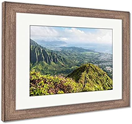 Amazoncom Ashley Framed Prints Stairway To Heaven In Oahu Island