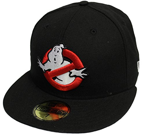 NEW ERA 59Fifty Ghostbusters Movie All Black Fitted Logo Cap Hat 7 3/8 (Ghostbuster Accessories)