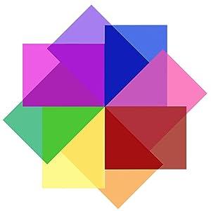 SAKOLLA 8 Pieces Transparent Color Correction Lighting Gel Filter - Colored Gel Light Filter Plastic Sheet, 8.5 x 11 Inch, 8 Assorted Colors