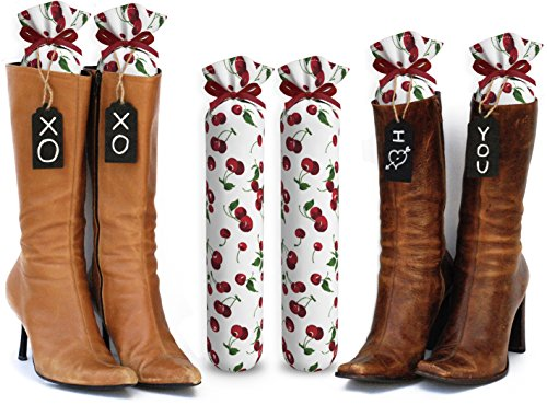 My Boot Trees Boot Shaper Stands For Closet Organization. Many Patterns To Choose From. 1 Pair (Cherries).