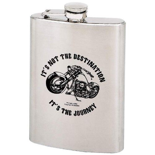 Maxam? 8oz Stainless Steel Hip Flask with Screw Down Cap