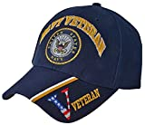 US NAVY Cap Blue Patriotic Veteran Logo Hat Mens Womens